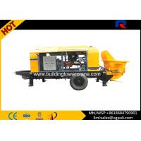 Quality PLC Control Small Diesel Concrete Pump Anti - Wearing Double Circuit Opening for sale