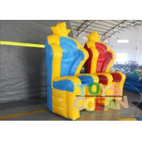 China Lovely Red Blue Inflatable Soft Crown Chair For Kids Inflatable Child Chair wholesale