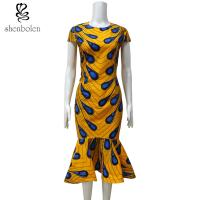 China Ankara Fishtail African Print Dresses , Traditional African Women's Clothing wholesale