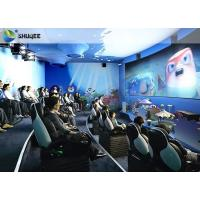 China Electric Dynamic 7D Cinema System / 3 People Capacity Movie Theater Chairs wholesale