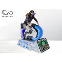 China Arcade Dynamic 9D VR Chair , Fully Motion Driving Simulator Race Car Game Machine wholesale
