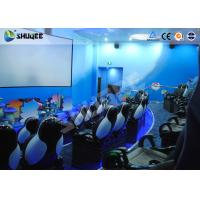 Quality Amusement Park Animatiom 4D Movie Theater With Black Leather Pneumatic Seats for sale