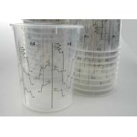 Disposable Mixing Painting Bottle Auto Plastic Single Use plastic pots measuring printed
