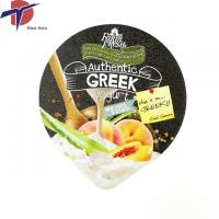 China Embossing aluminum foil lid for heat seal yoghurt plastic cup on sale