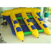 China Exciting 4m * 3m Inflatable Flying Fish , Inflatable Banana Boat  With Professional Trampoline Fabric on sale