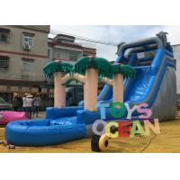 China PVC Summer Palm Tree Inflatable Pool Slides Water Inflatable Slide For Fun wholesale