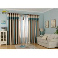 China Textile Decoration Jacquard Window Curtains Fabric Heat Insulation For Guest Room wholesale