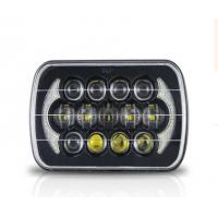 China Jeep Wrangler Car Light Bar 85w Cree 7 Inch Black Projector LED Headlights With DRL wholesale