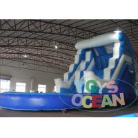 China Blue Bouncy Rent Inflatable Double Water Slide Backyard For Birthday Party wholesale