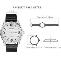 Quality Boamigo Men New Leather Band Simple Calendar Waterproof 30m Luminous Casual for sale