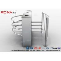 China Semi Automatic Waist Height Turnstiles Entrance IC/ID Card Access Control AC220V wholesale