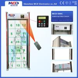 Buy cheap Walk Through Airport Security Metal Detector Door Scanner 18 Zones Anti - Interference from wholesalers