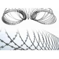 China Concertina Coil Wire Galvanized Crossed Razor Barbed Wire With Clips wholesale