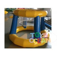 China Sports Game Inflatable Water Game Float Water Basketball Hoop With 0.9mm PVC wholesale