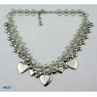 Quality 2012 Fashion Women's Tin Alloy Electroplated Jewelry Mixed Metal Necklace for for sale