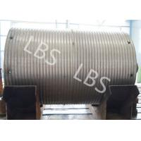 China High Strength Steel Integral Type Wire Rope Winch Drum For Crane Winch wholesale