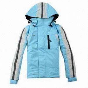 China Hooded children's ski jacket, waterproof and breathable fabric, waterproof zipper wholesale