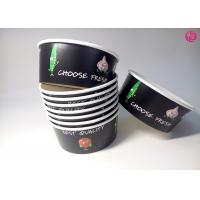 China 32oz Black Background Paper Salad Bowls Eco Friendly take out salad containers 44oz wholesale