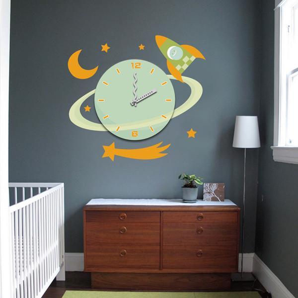 Beautiful living room decorative wall sticker clock 3m vinyl wall stickers 25a030 of for Beautiful wall stickers for living room