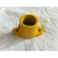 China Yellow Akzon Powder Bus Handrail Fittings Simple Base Pedestal wholesale