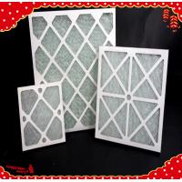China 20x20x1 inch MERV4 paper frame primary efficiency panel air filter for HVAC equipment wholesale