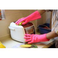 China Warm Dish Washing Latex Vinyl Gloves Pvc With Beaded Cuff To Protect Hands on sale