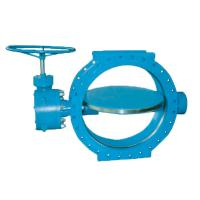 China SUFA Brand Large Water Butterfly Valve Manual Double Flanged Metal To Metal Seated wholesale