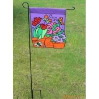 China Double Sides Advertising Flag Banners , Personalized Garden Flags Stand wholesale