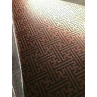 China 304 Hairline Bronze Stainless Steel Plate Copper Plating Sheet Brass Color wholesale