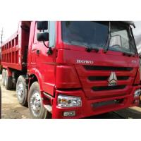 China 2014 Year Used Dump Truck , Red Color 375 8X4 Howo 12 Wheeler Dump Truck wholesale