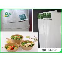 China 50gsm Natural Color PE Coated Kraft Paper / Cup Paper Single Side Coated In Rolls on sale