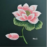 China Large Embroidered Flower Patches , Sew On Embroidered Appliques On Lace Fabric wholesale
