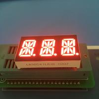 "China 0.54"" 3 Digit 14 Segment LED Display Alphanumeric Super Bright Red LED Color wholesale"