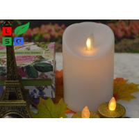 China Remote Controlled Flameless LED Candle Lights , Pillar Flickering LED Commercial Shop Lights wholesale