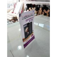 Quality Mini Table  X Style Banner Stand Digital Printing Desktop Advertising Display for sale