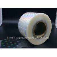 China Clear Holographic BOPP Shrink Film 2400m - 2800m Length Thermal Laminating wholesale