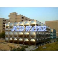 China Vertical Domestic Sectional Water Tanks For Commercial , Bead Blasted Stainless Steel Water Tanks on sale
