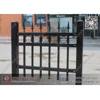 China 1.8m X 2.1m Ornamental Welded Metal Fence Panels with Black Color PVC coated wholesale