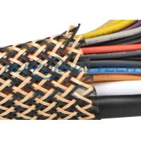 China PET Insulated Expandable Braided Sleeving For Flame Retardant Flexo Cable wholesale