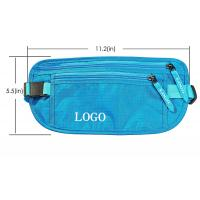 China 11.2*5.5 Inch  RFID Travel Bags / Adjustable Bicycle Workout Waist Pack wholesale