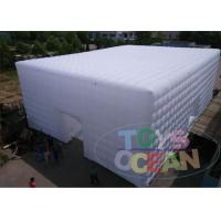 China Huge Cube White Inflatable Tents With LED Light , Outdoor Show Use wholesale