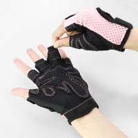 China Anti Slip Breathable Sports Workout Fitness Training Lifting Weight Gloves with Wrist Straps Gym Glove wholesale