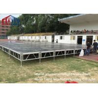China Heavy Duty Portable Outdoor Stage Platforms Adjustable Height Black Board on sale