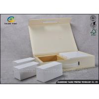 China Logo Printed Personalised Makeup Box Cosmetic Packaging Rigid Set Up Box Style wholesale