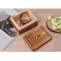 China Rustic Handcrafted Wood Decorative Boxes , Dark Wood Standing Jewelry Box With Lid wholesale