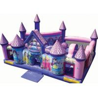 China Princess Palace Inflatable Games  For Toddlers / Pink Inflatable Outdoor Games wholesale