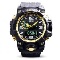 China SBAO New Men Multifunction Dual Time Alarm Calendar Waterproof 30m Outdoor Sports Wrist Watches S-8005-2 wholesale