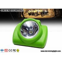 China PC Plastic Rechargeable LED Cordless Miner Headlamp 13000lux High Brightness wholesale