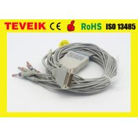 Wholesale Arrow One piece 5 leads ECG cable with clip IEC with 1K ohm for round 12pin from china suppliers