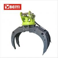 China hydraulic log grapple,stone grapple,wooden grabble for excavator with 5 teeth wholesale